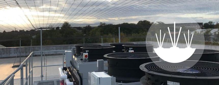 roof net installed